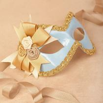 Verona Blue/gold Masquerade Mask /req37430 Photo