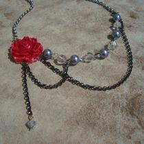 Victoria Red and Grey Pearl Necklace Photo