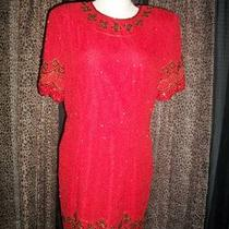 Vintage 1980s Stenay Sequined and Beaded Dresses Photo