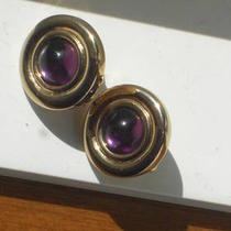 Vintage Amethyst Clip Earrings Photo