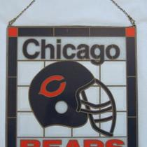 Vintage Chicago Bears 16 x 17.5 Plexi Glass Double Sided Sign Photo