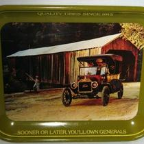 VINTAGE GENERAL TIRES TRAY-1913 FORD MODEL T TOURING CAR Photo