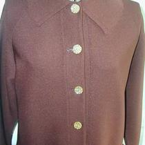 Vintage Hedy Knit Chocolate Brown Knit Jacket Size Large Photo