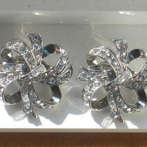 Vintage Kenneth Jay Lane for Avon &amp034lustrous bow&amp034 Clip Earrings Photo