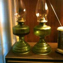 Vintage Oil Lamps.... Photo