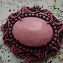 Vintage Pink Brooch Photo