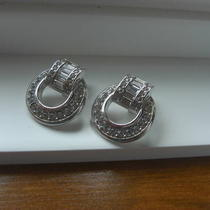 Vintage Rhinestone Clipon Earrings - New Photo