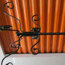 Vintage- Solid Iron - Coat Rack Photo