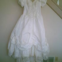 Vintage Southern Belle Wedding Gown W/veil Slip-Bridal Sz 18 (12) Photo