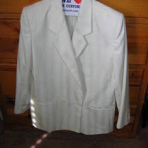 Vintage White Cream Sassoon woman&amp039s Suit/15. Off 40. Photo