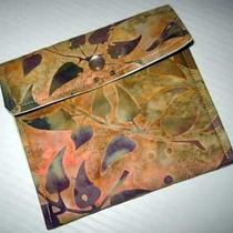 Wallet Business Card Holder Batik Spring Meadows Applesauce Fabric Photo