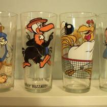 WARNER BROTHERS 1970's PEPSI COLLECTION CARTOON CHARACTER GLASSES  Photo