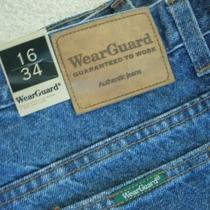 Wear Guard Ladies Misses Jeans Size 16 - 34 Long - Straight Leg Nwt Photo
