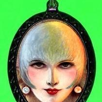 Whimsical Carnival Circus Deco Retro Girl Face Design Diy Necklace and Pendant Shs Photo