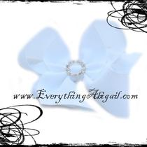 White Bling Boutique Bow Photo