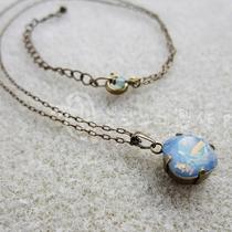 White Opal Star Shine Swarovski Crystal Necklace Photo