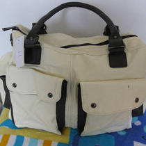 White Pu Leather Handbag Shoulder Bag Photo