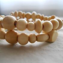 White Wood Bracelet Photo