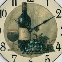 Wine And Grapes Wall Clock Photo