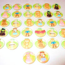 Wizard of Oz 1&ampquot Pinback Buttons--Set of 32 Photo