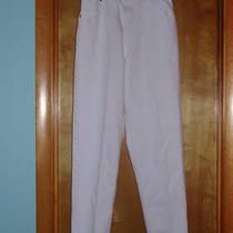 women&amp039s Gently Used White Jeans Crossroads (Relaxed) 8r 28 1/2&amp034x30&amp034  Photo
