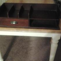Wood shelf with drawers Photo