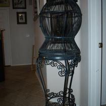 Wrought Iron Bird Cage  Photo