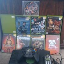 Xbox System and 9 Games Photo