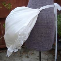 Xl Custom Made 4 U Muslin Victorian Bustle Pillow Gown (Custom Made to Order in White or Black or Red Lace Bows) Photo