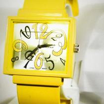 Yellow Fashion Cuff Watch Photo