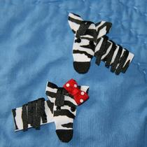 Zebra Ribbon Sculpture Hair Clip Photo